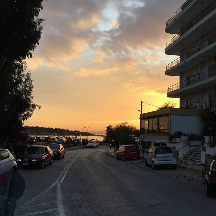 #sunset #view from #homm #headquarters in #glyfada #greece #propertymanagement #realestate #investment #visitgreece