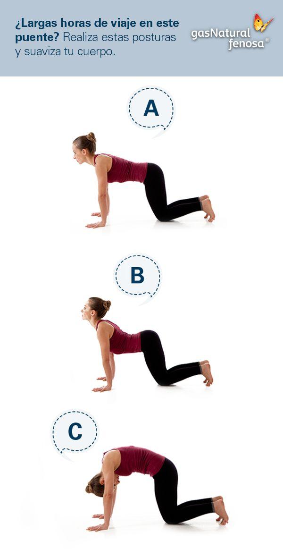Este es uno de los movimientos más completos en Yoga. Todo nuestro cuerpo necesita moverse de nuevo después de viajar largas horas. Esta serie de posturas son eficaces para traer movimiento a la espalda y también hacia los músculos abdominales. Ayuda a mover las vísceras y a despertar otra vez el funcionamiento del aparato digestivo el cual muchas veces se altera en los viajes.