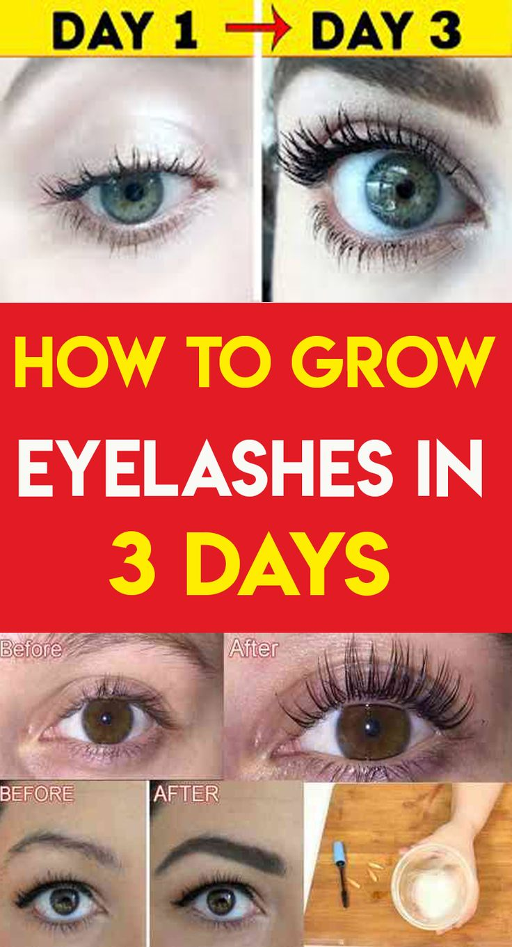 Grow Your Eyelashes In Just 3 Days | How to grow eyelashes ...