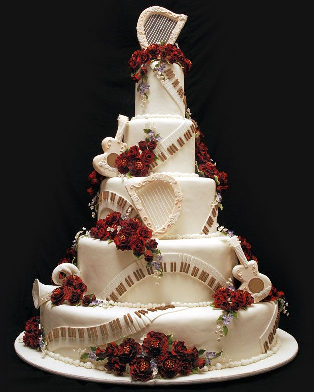 music wedding cake wedding cake musical wedding ideas 17668