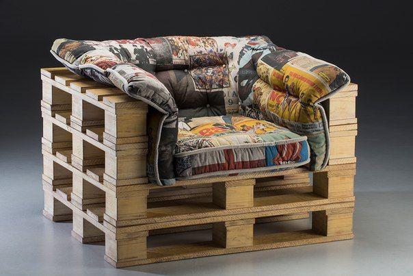 Эко мебель в стиле Лофт из поддонов в Тюмени