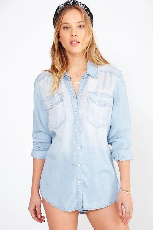 light blue button down shirt women | Gommap Blog