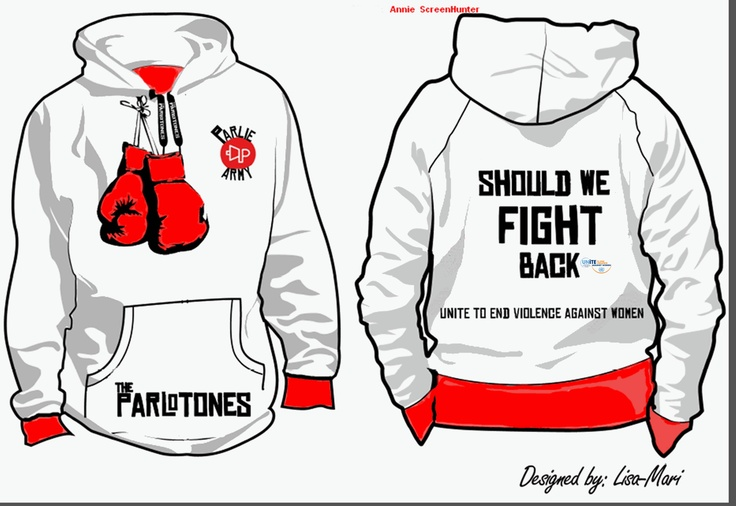 Should we fight back hoodie,unite against woman abuse