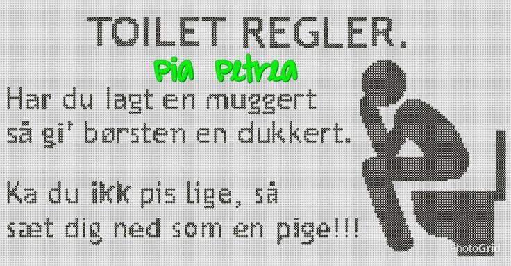 Toilet regler