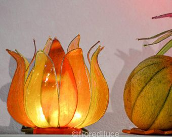 """Lampada """"Flor de Calabaza"""" (Fiore di Zucca) / Spedizione Gratis -    Modifica inserzione  - Etsy"""