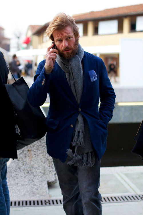 Modern day viking on the way to the office? -- actually, i don't like that blue that much.