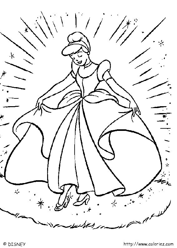 how elegant and beautiful cinderella looked at the ball cinderella coloring pages can be decorated online with the interactive coloring machine or - Interactive Coloring Pages Disney