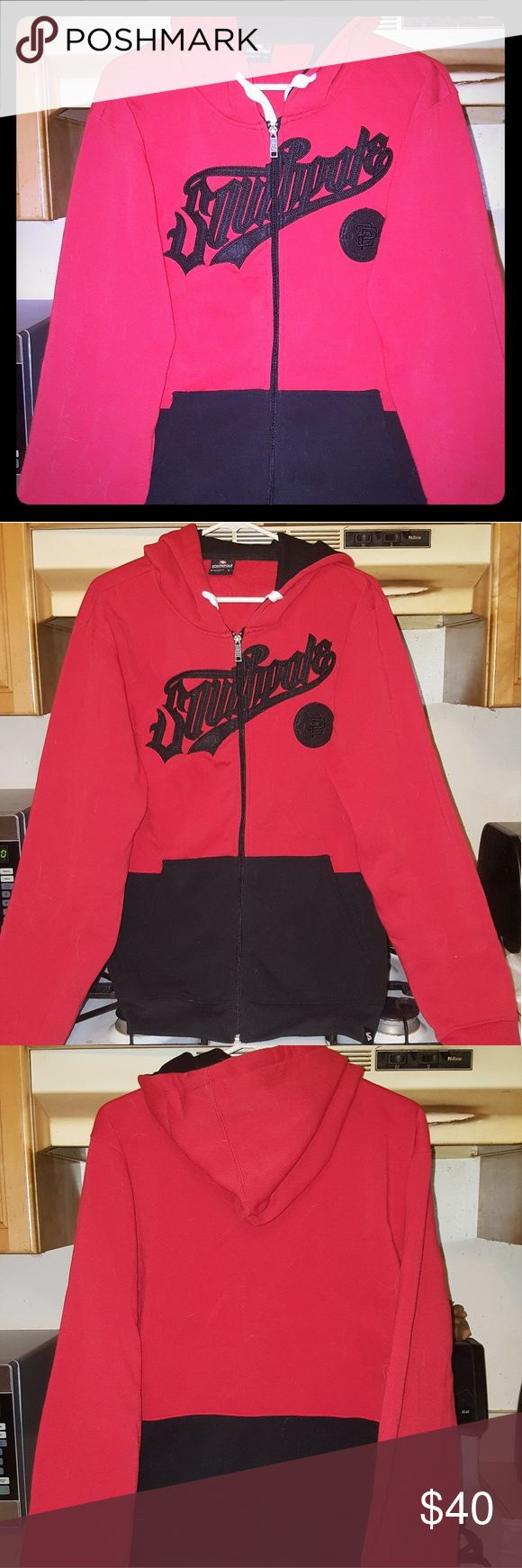 Women's SouthPole Hoodie Pre-Owned/Excellent Condition  Women's Heavy Long Sleeved Full Zippered Hoodie Jacket  Brand: SouthPole Size: Large  Color: Red & Black South Pole Tops Sweatshirts & Hoodies