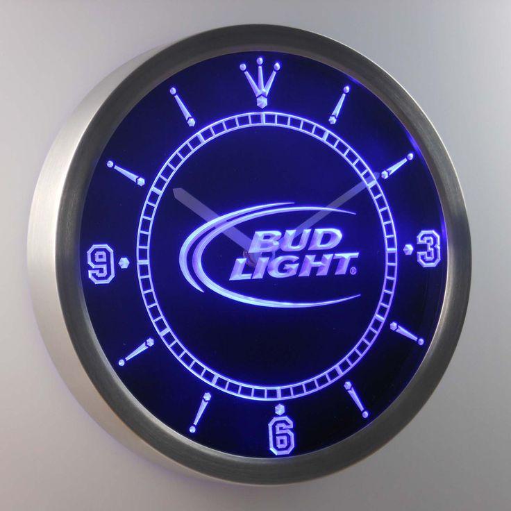 nc0470 Bud Light Beer Bar Neon Sign LED Wall Clock