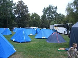 Camping in Europe - A first timer's guide. I also find some campgrounds have ads along major bicycle touring routes.