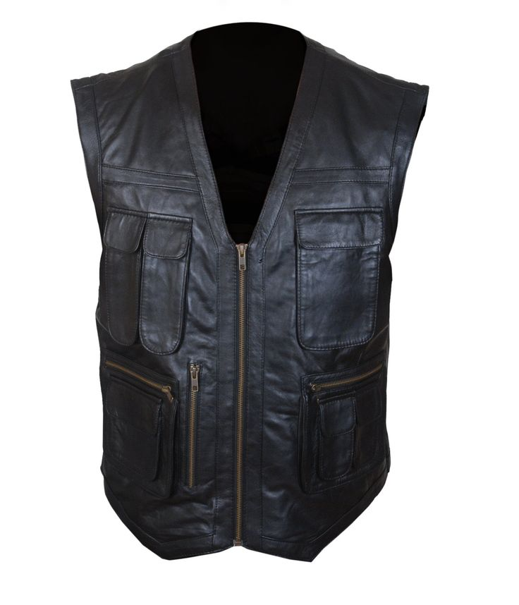 F&H Boy's Jurassic World Chris Pratt Owen Grady Synthetic Leather Vest L Black. Premium Quality Synthetic Leather. Polyester + Satin Lining with 2 Inside Pockets. Original YKK Zipper. 30 Day Returns & Exchange, 100% Money Back Guarantee. International buyers may be required to pay import duties as levied by their government.