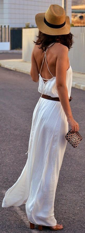 Strappy back maxi dress.
