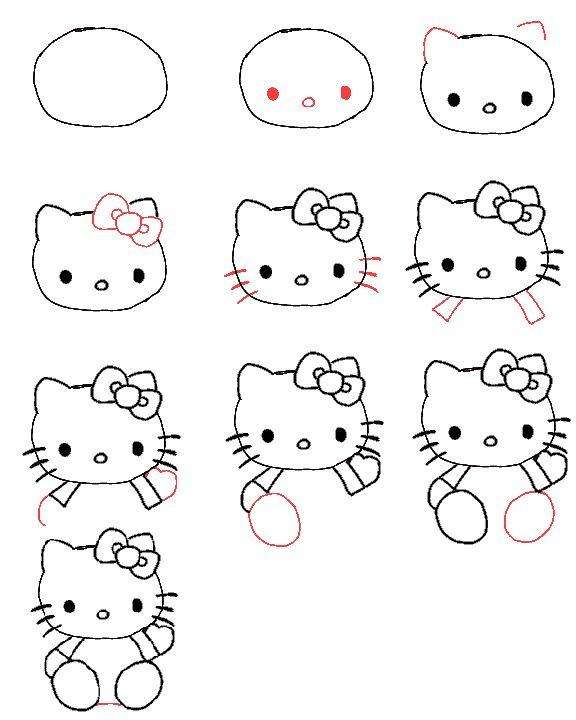 Hoe teken je Hello Kitty