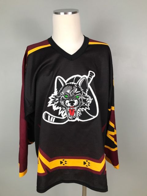 CHICAGO WOLVES AHL JERSEY With PATCH SP SIZE Large RARE!! | eBay