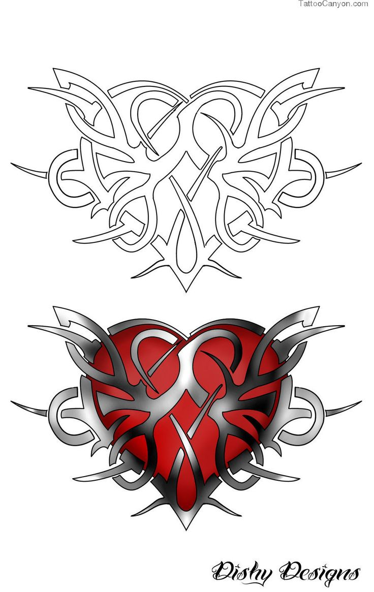 Download Tribal Heart Tattoo Design By Dishydesigns Designs Interfaces ...