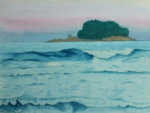 풍경   watercolor