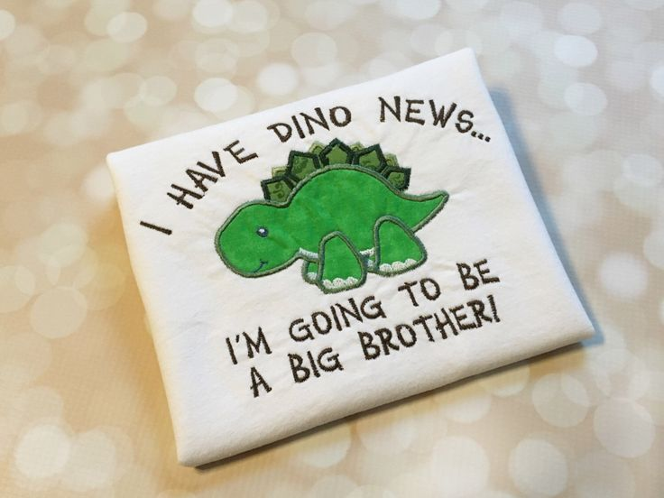 Big Brother Shirt - Baby Announcement - Sibling Announcement Shirt - Going To Be A Big Brother - Big Bro Shirt - Dino News - Dinosaur Shirt by FireWifeFashions on Etsy https://www.etsy.com/listing/465862799/big-brother-shirt-baby-announcement