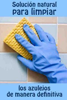 Solución natural para limpiar los azulejos de manera definitiva #limpieza #azulejos #tips