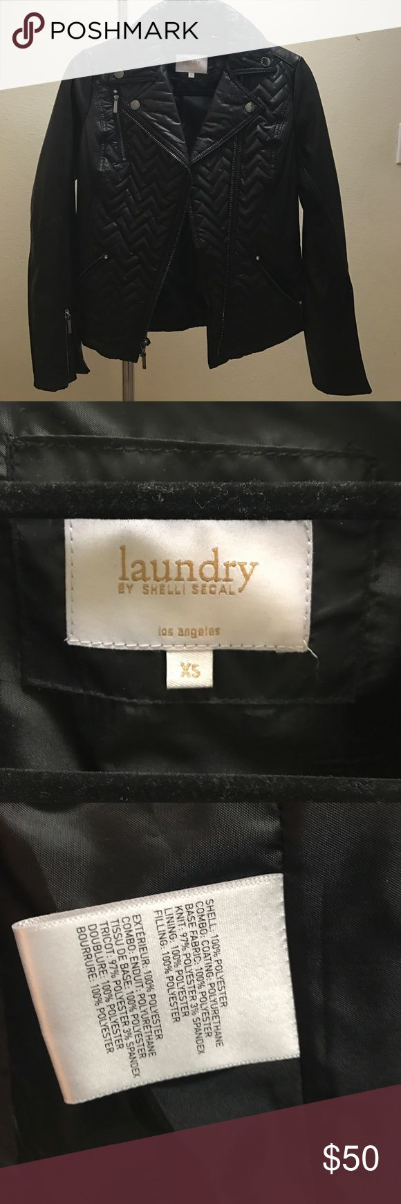 Clearing Closet Black jacket by Laundry Shelli Segal- Never worn Laundry by Shelli Segal Jackets & Coats Puffers