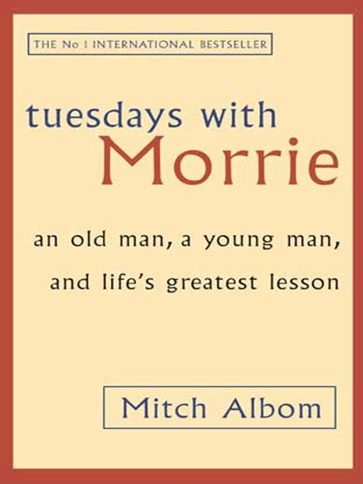 'Tuesdays With Morrie', written by Mitch Albom, is a book that will surely capture your hearts and souls. It talks about the loving relationship of a student and a mentor, who part ways after the student graduates and reunite sixteen years later. The teacher, Morrie, suffering from a terrible disease called ALS, teaches Mitch, the student, life's greatest lessons, in the last days of his life.