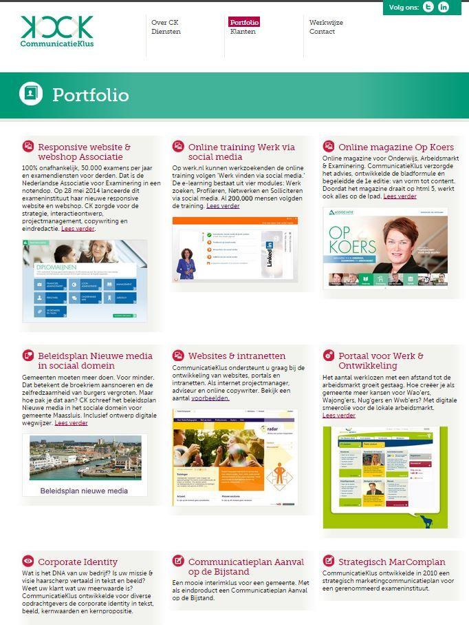 CommunicatieKlus - portfoliopagina