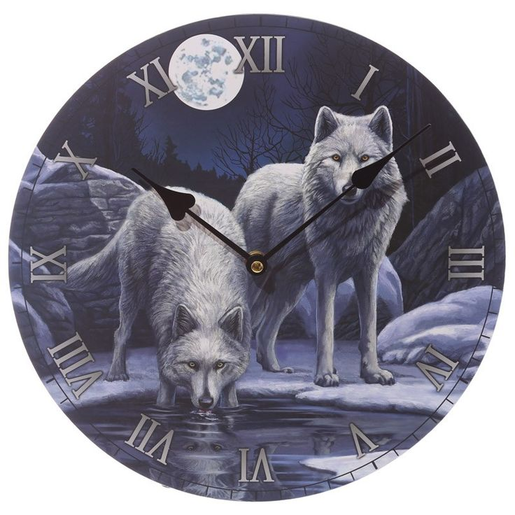 Fantasy Wolf Warriors of Winter Decorative Wall Clock
