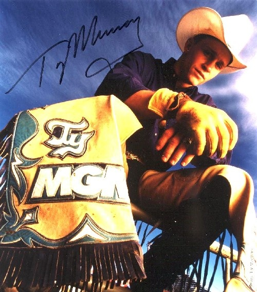 ty murray!! I got to get this man's autograph this year at the NFR!! It was amazing. He is so polite and talked toe forever. Ty Murray is one of a kind