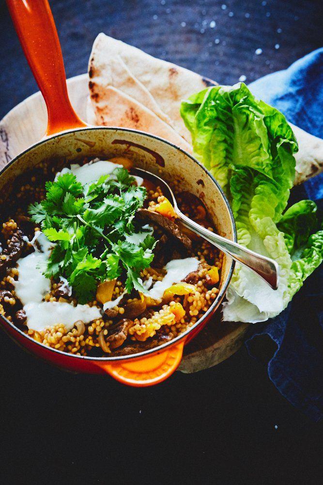 Couscous med kalv og grønt – One pot wonder.
