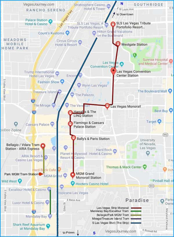 Monorail In Las Vegas Map.Las Vegas Monorail Tram Map Vegas Baby In 2019 Pinterest Las
