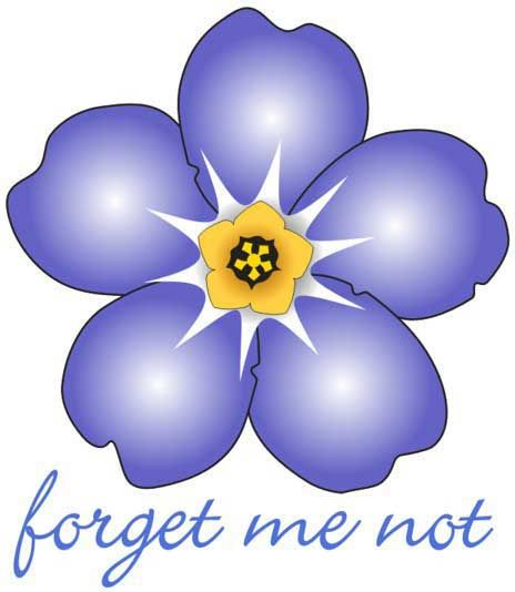 Forget-me-nots are the official flower of the Alzheimer's Society, and they gently remind us to never forget those who have been lost to the disease.