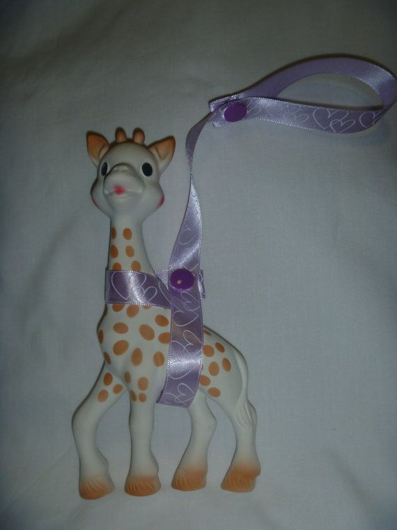 Purple Heart Sophie the Giraffe Leash/Toy Saver Strap