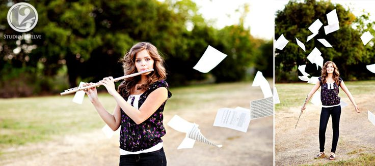 Floating sheet music....  Maybe get a similiar effect by hanging it from tree branches with fishing line?