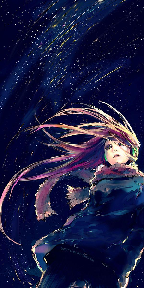 'Falling Lights' by yuumei