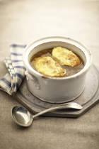 British Onion Soup with Welsh Rarebit Recipe