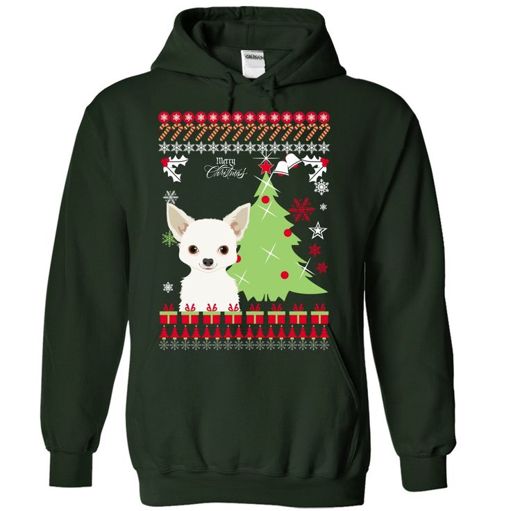 chihuahua Christmas T-Shirts, Hoodies. BUY IT NOW ==► https://www.sunfrog.com/Pets/chihuahua-Christmas-7303-Forest-Hoodie.html?id=41382