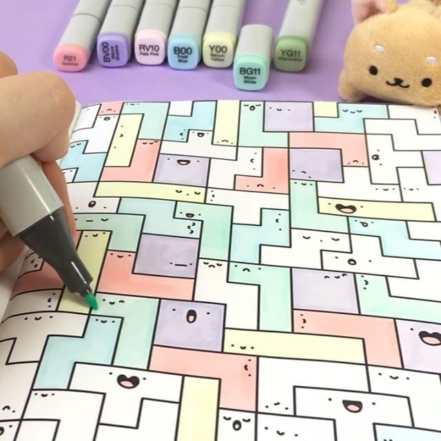 Happy geometric doodles - reminds me of Tetris