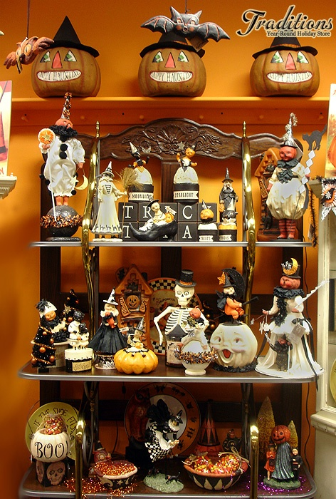 here at traditions you will find one of the largest selections of vintage halloween decor and vintage halloween reproductions - Miniature Halloween Decorations