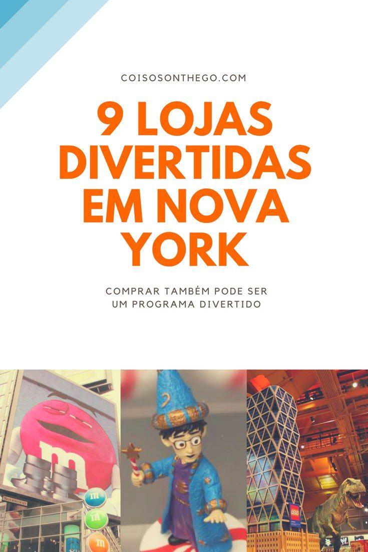 Confira a nossa seleção de 9 lojas divertidas em Nova York! São opções de compras que já viraram pontos turísticos de NY e tem loja barata na lista também! Confira agora as nossas dicas de Nova York