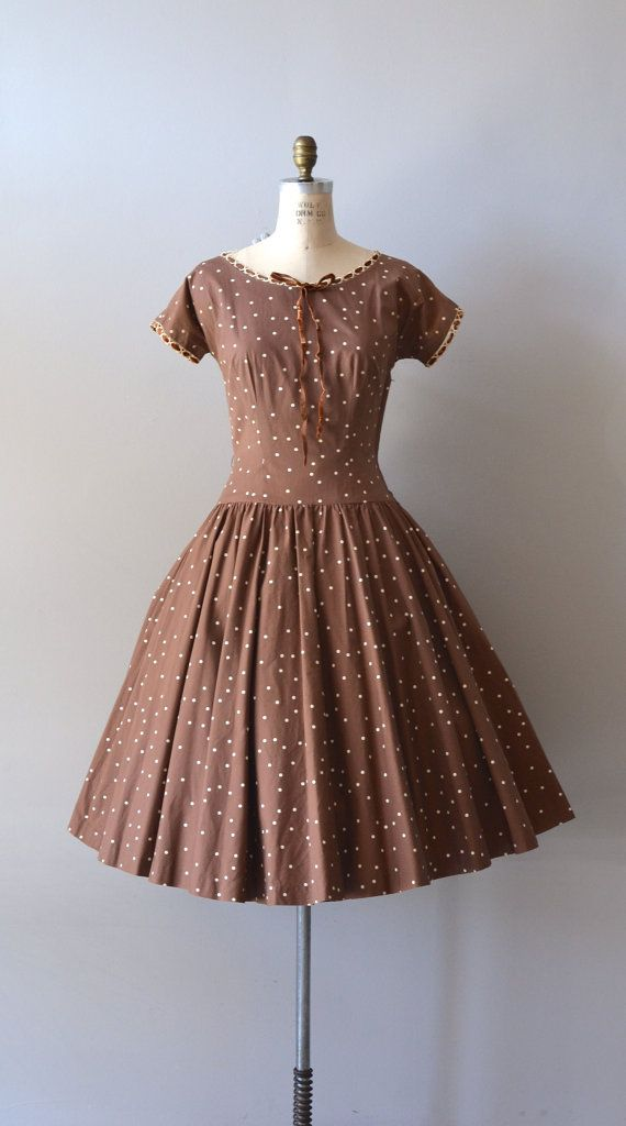 ~vintage 1950s polka dot dress~  #1950sdaywear