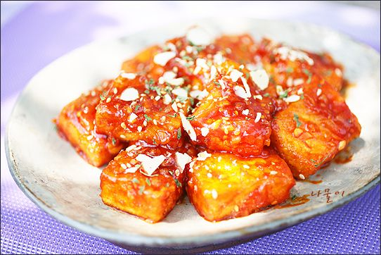 두부 강정 Sweet and spicy fried tofu  http://namool.com/40212080887