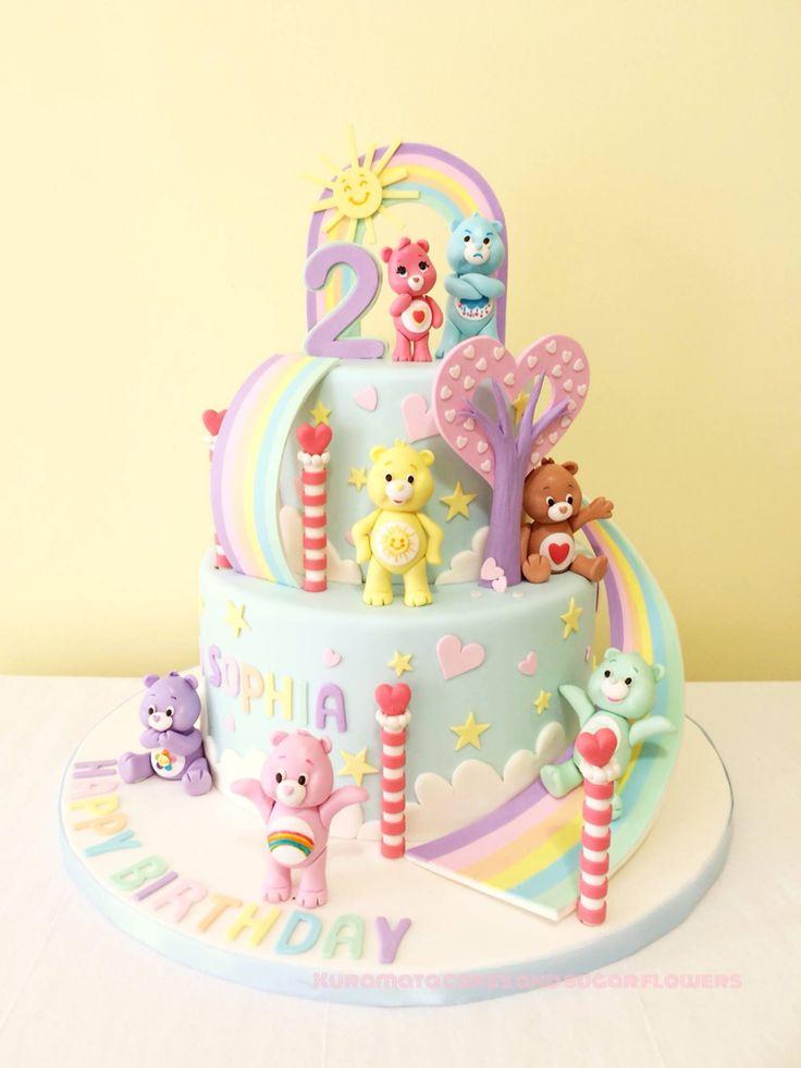 Care bear birthday cake!                                                                                                                                                                                 More