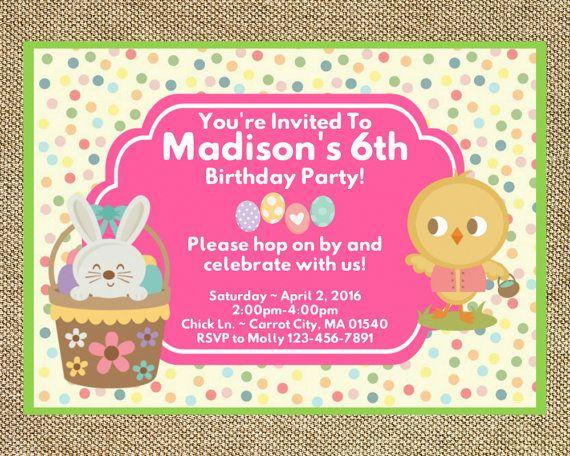 19 best Aria birthday images on Pinterest Birthday invitations - easter invitations template