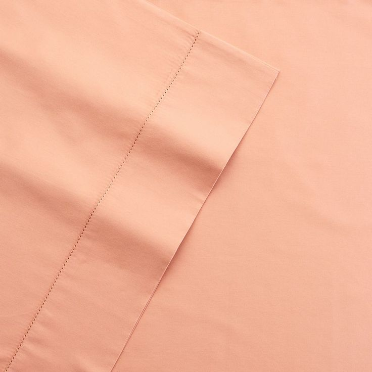 Grand Collection 400 Thread Count Hemstitch Solid Sheet Set, Orange Cal King