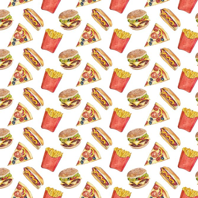 Group Of Junk Food Background Tumblr