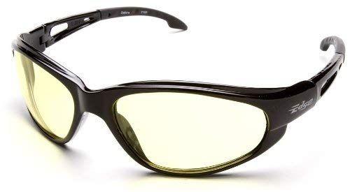 Edge Eyewear Brazeau Torque Safety//Sun Glasses Black//Smoke Lens Ballistic XB136