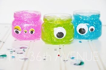 The 36th Avenue monster glitter slime halloween party treat craft idea