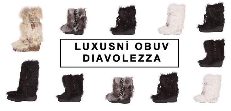Luxusní kožešinová obuv Diavolezza Luxury fur boots Diavolezza