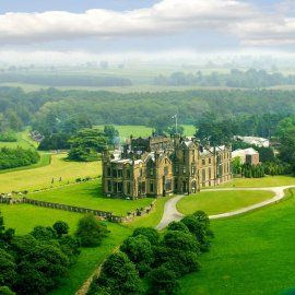 Gothic Allerton Castle, Knaresborough, North Yorkshire, England