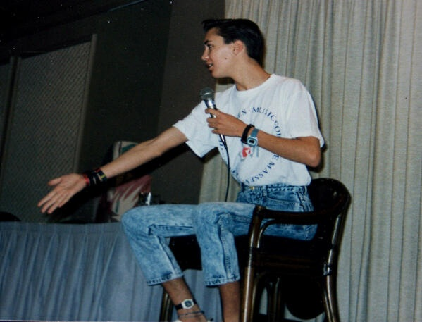 A very 80s looking Wil Wheaton