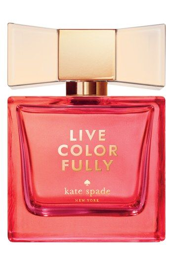 Live Color Fully edp by Kate Spade Features bold top notes of sparkling mandarin, pink water lily and star anise; a playful heart of tiare flower, golden gardenia and coconut water; and a sophisticated base of sheer amber, radiant musks and Tahitian vanilla. By kate spade new york.